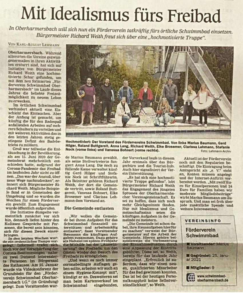 Zeitungsbericht der Schwarzwälder Post am 03. Februar